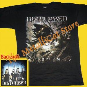 T-SHIRT DISTURBED Asylum CD SIZE L HEAVY METAL