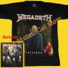 T-SHIRT MEGADETH Thirt3en 13 THRASH METAL CD SIZE S