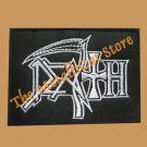DEATH Band Logo SMALL EMBROIDERED PATCH CD BLACK METAL