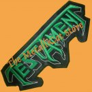 TESTAMENT Shaped Green Logo Embroidered Patch CD THRASH METAL