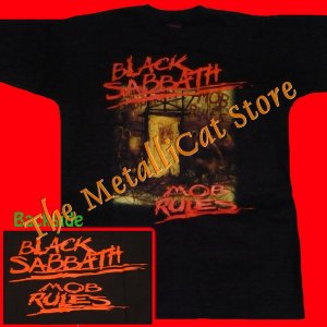 T-SHIRT BLACK SABBATH Mob Rules CD OZZY SIZE XL