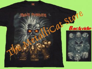 T-SHIRT IRON MAIDEN 1st LP Drawing CD SIZE XL