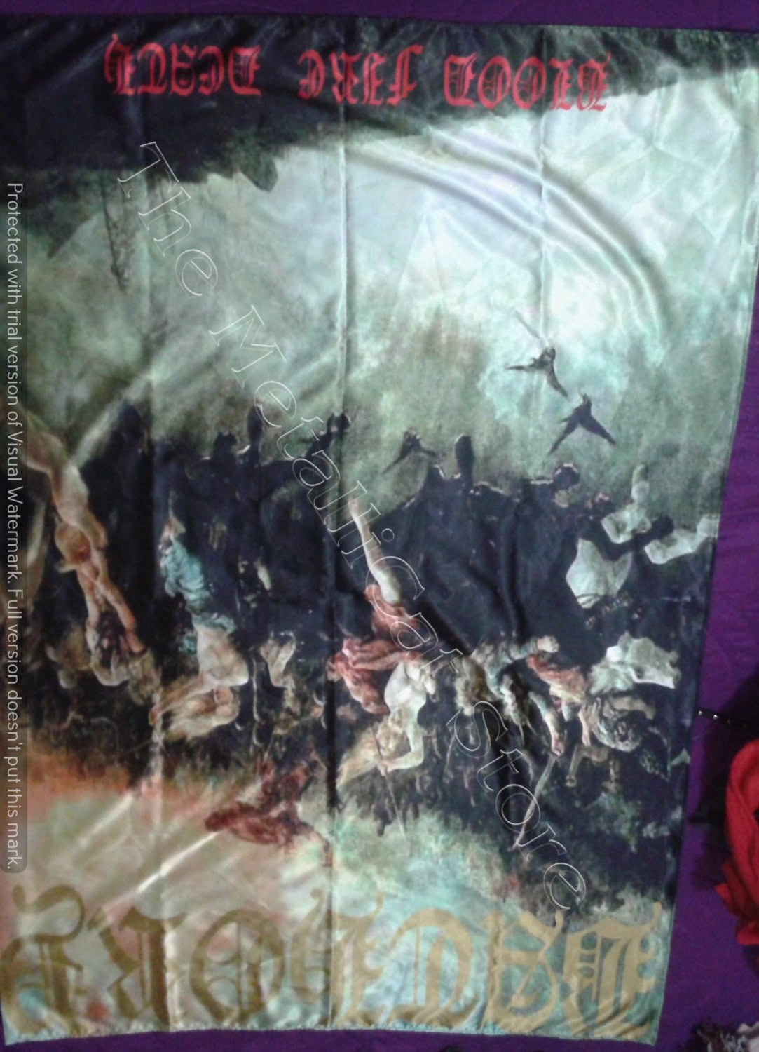 BATHORY Blood Fire Death FLAG CLOTH POSTER WALL TAPESTRY BANNER CD BLACK METAL
