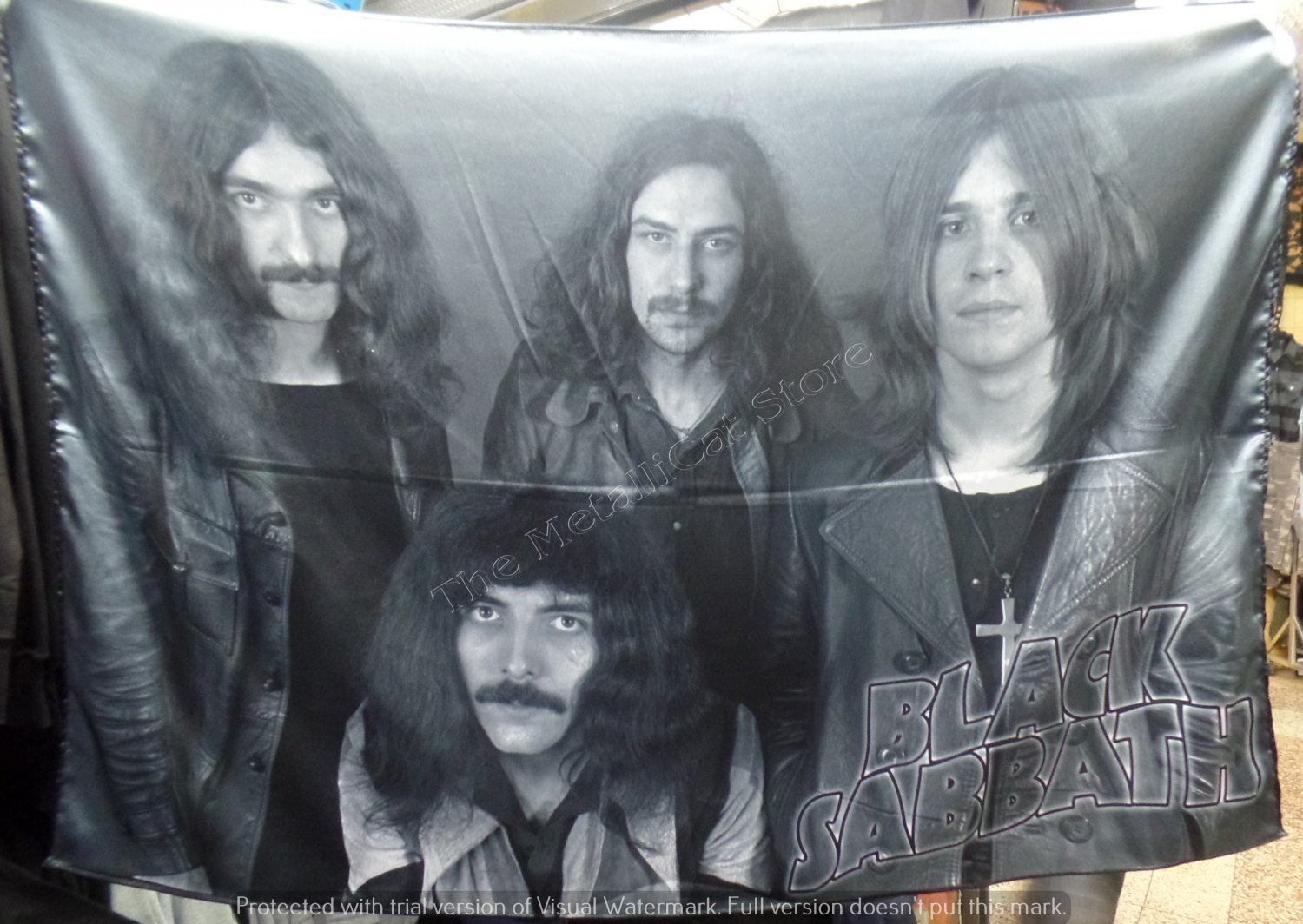 BLACK SABBATH Early Band Paranoid Ozzy FLAG CLOTH POSTER WALL TAPESTRY BANNER CD