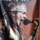GUNS N' ROSES Axel Rose 2 FLAG BANNER CLOTH POSTER WALL TAPESTRY CD Lies METAL