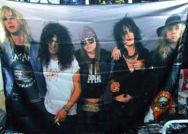 GUNS N' ROSES Band 2 FLAG BANNER CLOTH POSTER WALL TAPESTRY CD Lies METAL