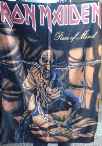 IRON MAIDEN Piece of Mind FLAG CLOTH POSTER WALL TAPESTRY BANNER CD Metal