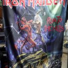 IRON MAIDEN Run to the Hills FLAG CLOTH POSTER WALL TAPESTRY BANNER CD Heavy