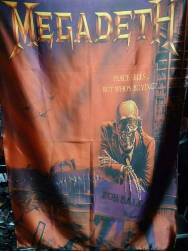 MEGADETH Peace Sells FLAG CLOTH POSTER WALL TAPESTRYAN BANNER CD Thrash Metal
