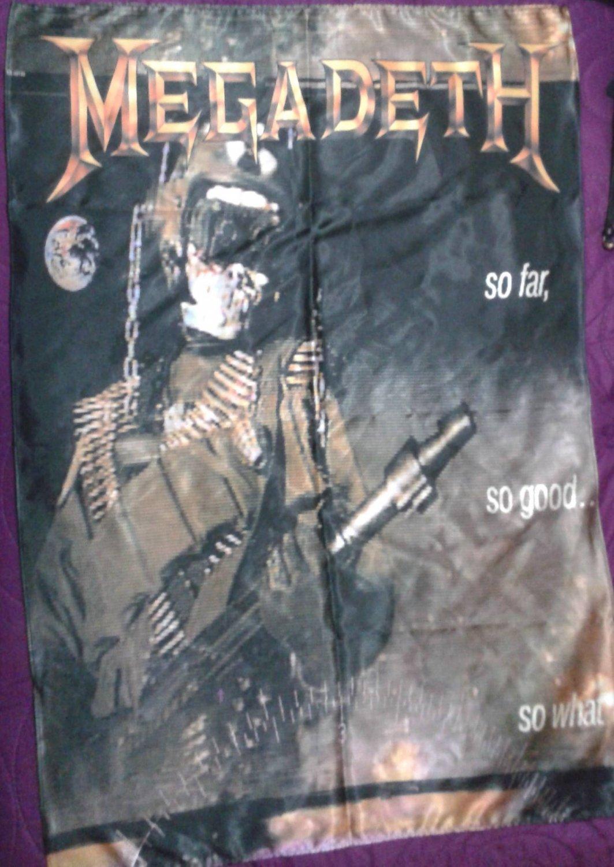 Megadeth So Far So Good So What Flag Cloth Poster Wall