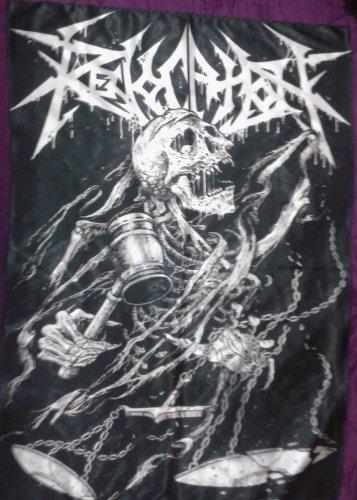 REVOCATION Skull Hammered FLAG CLOTH POSTER WALL TAPESTRY BANNER CD Thrash Metal