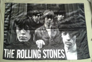 ROLLING STONES Out of Our Heads FLAG CLOTH POSTER WALL TAPESTRY BANNER Jagger LP