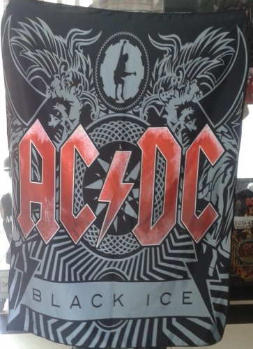 AC/DC Black Ice 2 FLAG CLOTH POSTER WALL TAPESTRY BANNER CD Angus Young HEAVY METAL