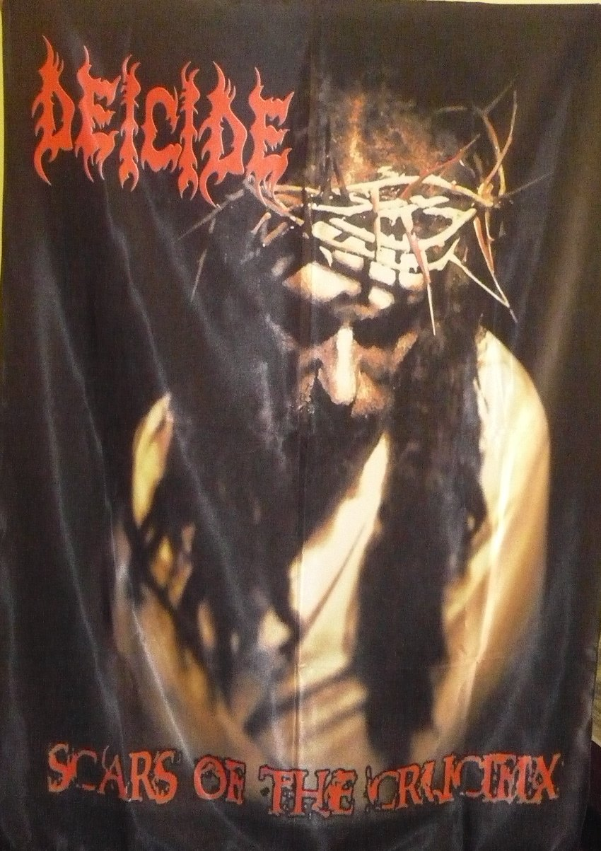 DEICIDE Scars of the Crucifix FLAG CLOTH POSTER TAPESTRY BANNER CD DEATH METAL