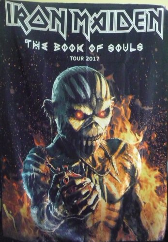 IRON MAIDEN The Book of Souls - UK Tour 2017 FLAG CLOTH POSTER WALL TAPESTRY BANNER CD Heavy Metal