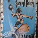 SACRED REICH Surf Nicaragua FLAG CLOTH POSTER WALL TAPESTRY BANNER Thrash Metal