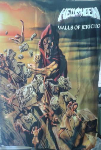 HELLOWEEN Walls of Jericho FLAG CLOTH POSTER WALL TAPESTRY BANNER Heavy Metal