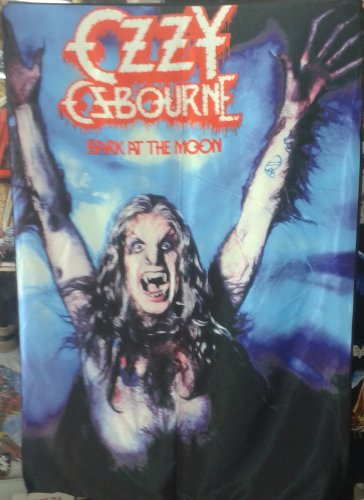 OZZY OSBOURNE Bark at the Moon FLAG BANNER CLOTH POSTER TAPESTRY Hard Rock