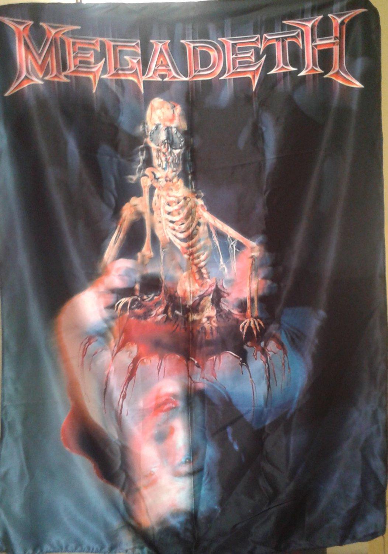 MEGADETH The World Needs a Hero FLAG CLOTH POSTER WALL TAPESTRYAN BANNER Thrash