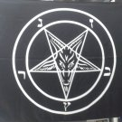 Baphomet Goat Pentagram Devil Flag Cloth Poster Wall Tapestry Pagan Satan