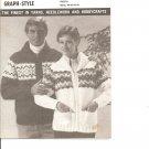 Mary Maxim  4308-09 Fiesta Graph Style Sweater Knitting Pattern