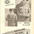 Mary Maxim 4308 Hiawatha Graph Style Knitting Pattern