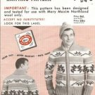 Vintage Mary Maxim Mens Cardigan Pattern called Indian