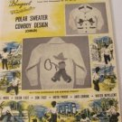 Vintage Graph Style Kitting Pattern Cowboy Designs sizes 4 to 10 year