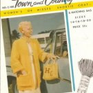 Mary Maxim N0 c-100 town and Country Shortie Coat and Handbag Pattern