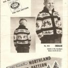 Mary Maxim graph Style Knitting Pattern Indian N0 452 Child sz 8 to 12