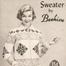 Ladys Star Graph Style Knitting Pattern by Beehive Szs 14to18