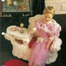 Annies Attic: Wicker Gossip Bench Crochet Pattern Barbie Size Dolls