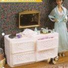Wicker Look Dresser Barbie Doll Size Plastic Canvas Pattern