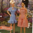 Annie's Attic: Sun Dresses Crochet Pattern for Barbie Size Dolls