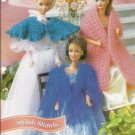 Annies Attic: Stylish Shawls Crochet Pattern for Barbie Fashion Dolls