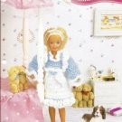 Annie's Attic: 9.5 Inch Doll Ruffled Pinafore Crochet Pattern