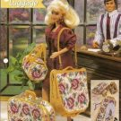Annies Attic Barbie Size Rose Tapestry Luggage Plastic Canvas Pattern