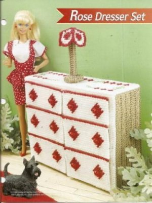 "Items like ""Rose Bedroom Annies Attic Fashion Doll Plastic Canvas"