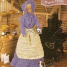 Annies Attic Barbie Doll Size Prairie Dress Apron Crochet Pattern