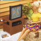 Annies Attic Barbie TV VCR Stand Plastic Canvas Pattern