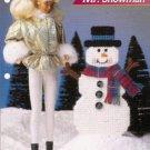 Annie's Attic Mr .Snowman Fashion Doll Size Snowman Plastic Canvas Pattern