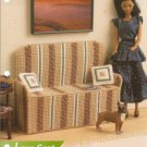 Plastic Canvas Love Seat Pattern for Barbie Size Dolls