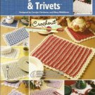 Annies Attic Crochenit Easy Place Mats and Trivet Pattern