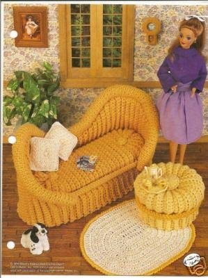 Annie's Attic Fashion Bed Doll January Crochet Pattern 1991