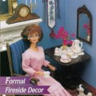 Annie's Attic: Doll Size Formal Fireside Decor Plastic Canvas Pattern