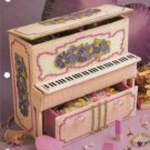 Annies Attic Floral Piano Jewelry Box Plastic Canvas Pattern
