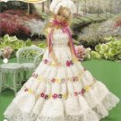 Annies Attic Barbie Fashion Doll Floral Fantasy Gown Crochet Pattern