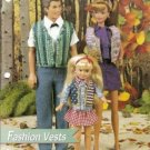 Fashion Vests for Barbie Ken and Smaller Doll Plastic Canvas Pattern
