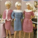 Annies Attic Pattern Club Barbie Doll Work Dresses Crochet Pattern