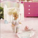 Annie's Attic: 4 Inch Baby Doll Bedtime Clothes Crochet Pattern